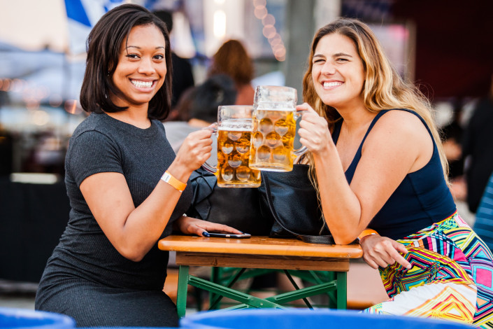 OktoberFest NYC at Watermark 2015 - Beer Toast