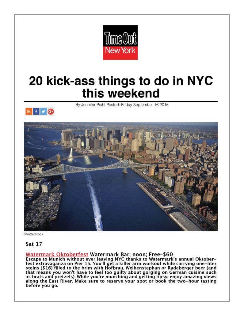 Time Out New York - 20 Kick-ass things to Do in NYC This Weekend