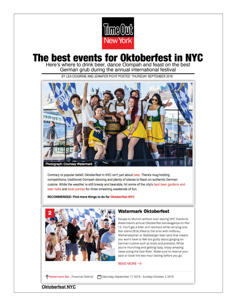 Time Out New York - Best Events for Oktoberfest in NYC