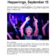 CBS New York . Happenings, September 15