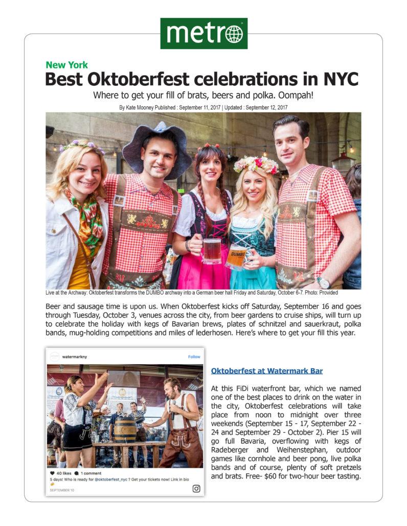 Metro - Best Oktoberfest Celebrations in NYC