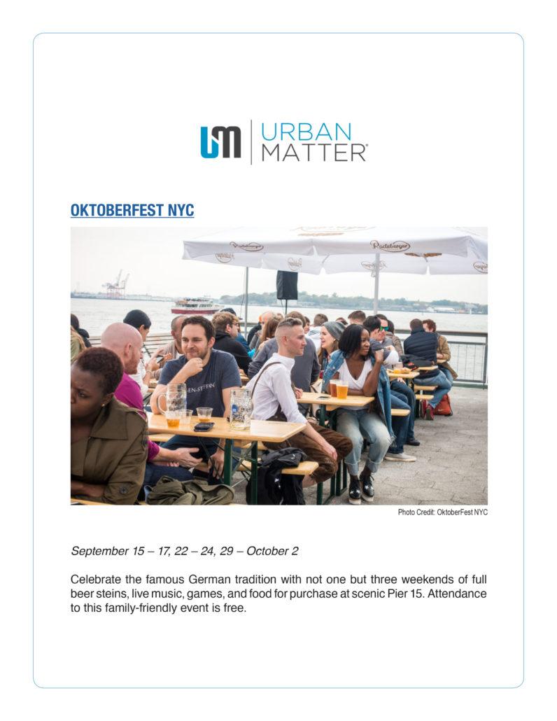 Urban Matter - Oktoberfest NYC