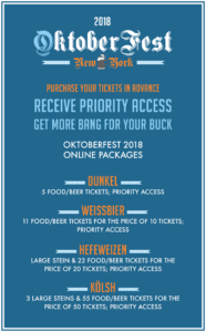 Oktoberfest 2018 Ticket Packages