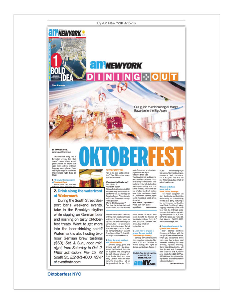 AM New York - Oktoberfest 101