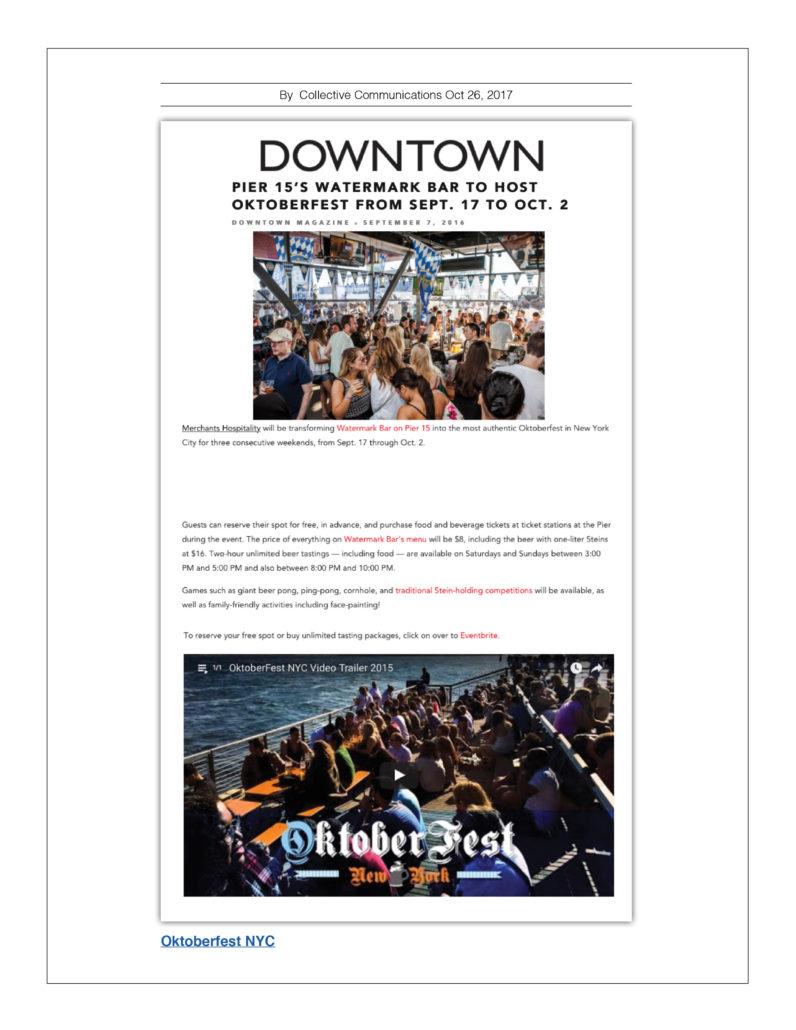 Downtown - Watermark Bar to Host Oktoberfest