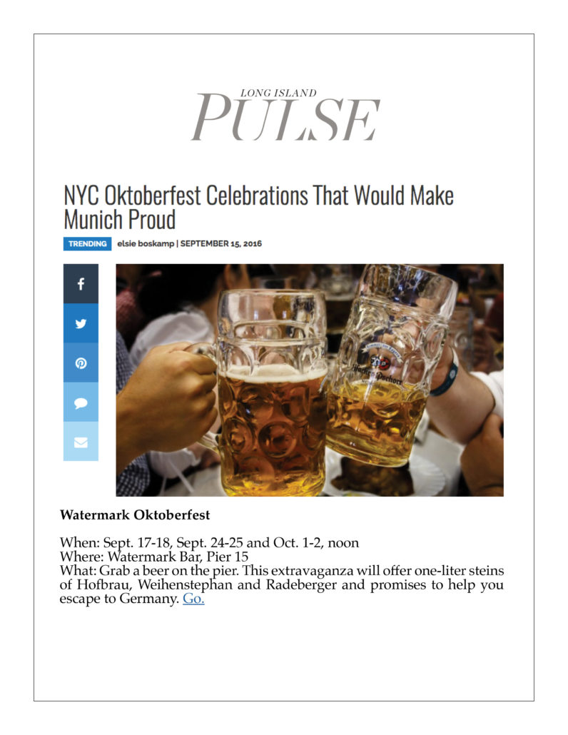 Long Island Pulse - NYC Oktoberfest Celebrations that Would Make Munich Proud