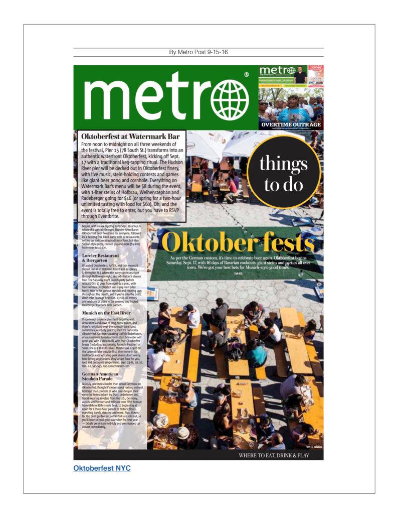 Metro - Oktober fests