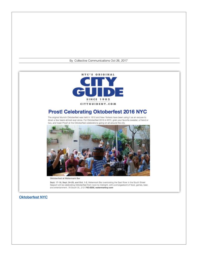 NYC City Guide - Celebrating Oktoberfest 2016 NYC