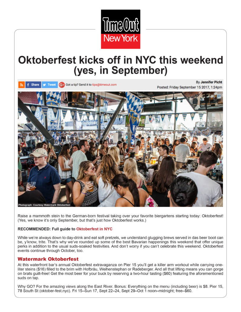 Time Out New York - Oktoberfest kicks off in NYC this Weekend