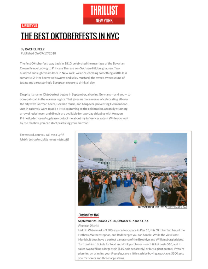 Thrillist - The Best Oktoberfests in NYC