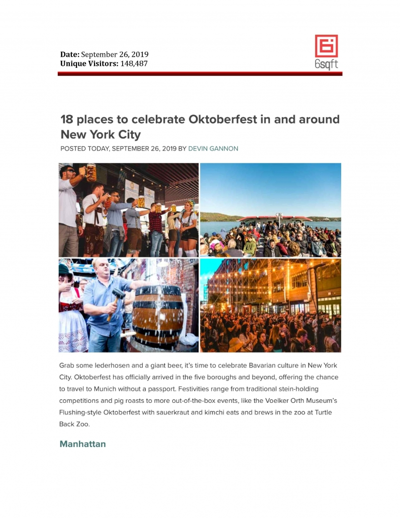 6sqft - 18 Places to Celebrate Oktoberfest in and around New York City