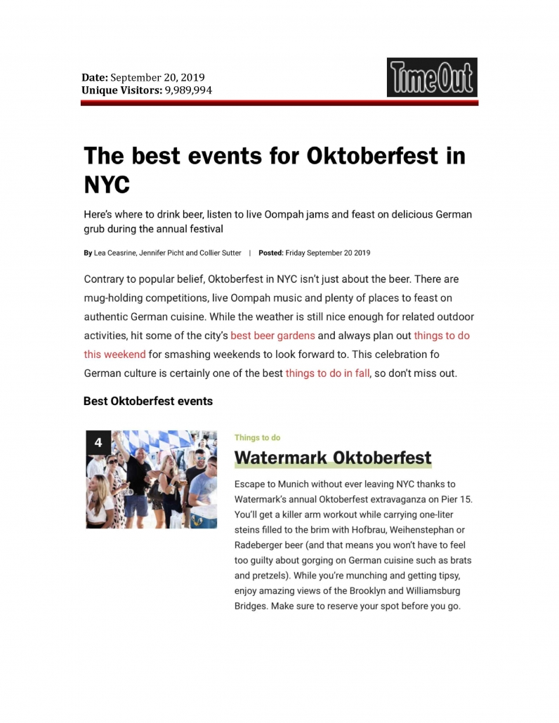 Time Out New York - The Best Events for Oktoberfest in NYC
